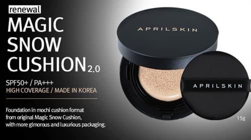 Korean Makeup Magic Snow Cushion Moisture April Skin Tradekorea
