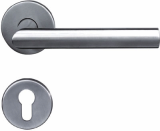Stainless steel tubing lever door handle