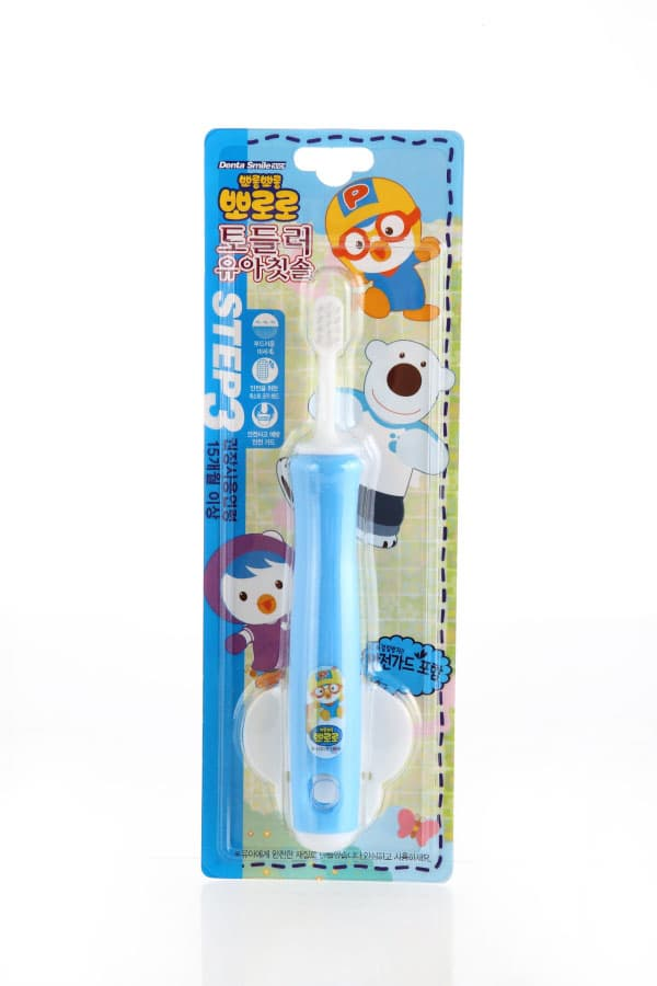 PORORO Toddler Toothbrush STEP 1-2-3