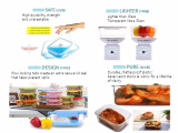 Eco-made Rainbow food storage
