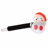 Christmas / X-mas Snowman P point hairpin
