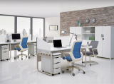 white office desk_ modern office workstation PACE series