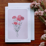 Dear Moment _ carnation _ greeting cards _ card and envelope