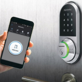 Smart Digital Door Lock opened via Smartphone_ Card_ Pincode