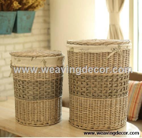White wicker laundry basket laundry hamper from zibo lingjia arts crafts co ltd b2b marketplace - White wicker clothes hamper ...