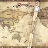 paper worldmap-antique