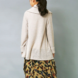 terry fabric shawl cardigan
