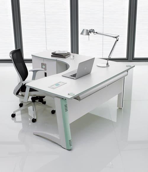 White Office Desk Modern, White Modern Office Desk