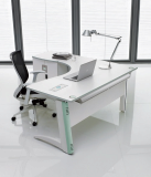 white office desk_ modern office workstation CIRK_One series