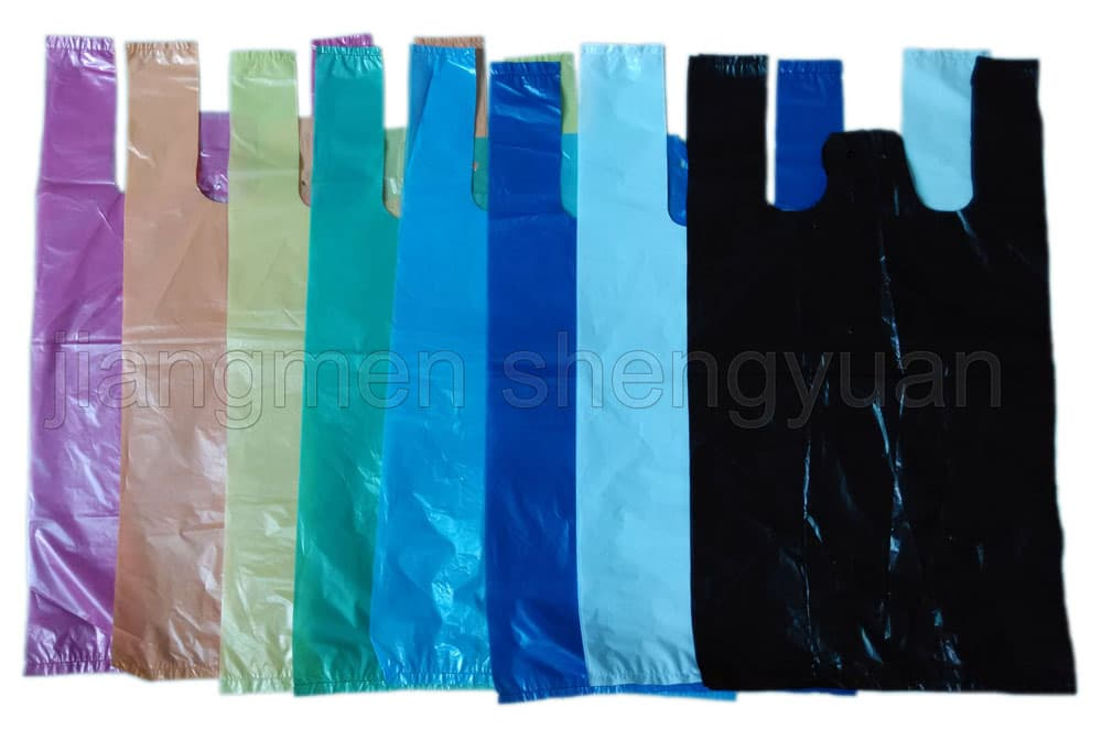 Hdpe Plain Plastic T Shirt Shopping Bag From Jiangmen