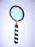 Large Magnifying Glass, Hand Held Magnifying Glass, Antique Magnifying Glass, Brass Magnifying Glass