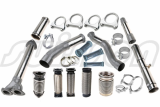 Truck exhaust mufflers_ exhaust flexible hose_ metal bellows
