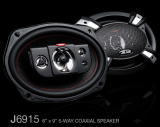 JB.Lab J6915 Car Speakers 6x9 Inch 5 Way 400W Coaxial Speaker