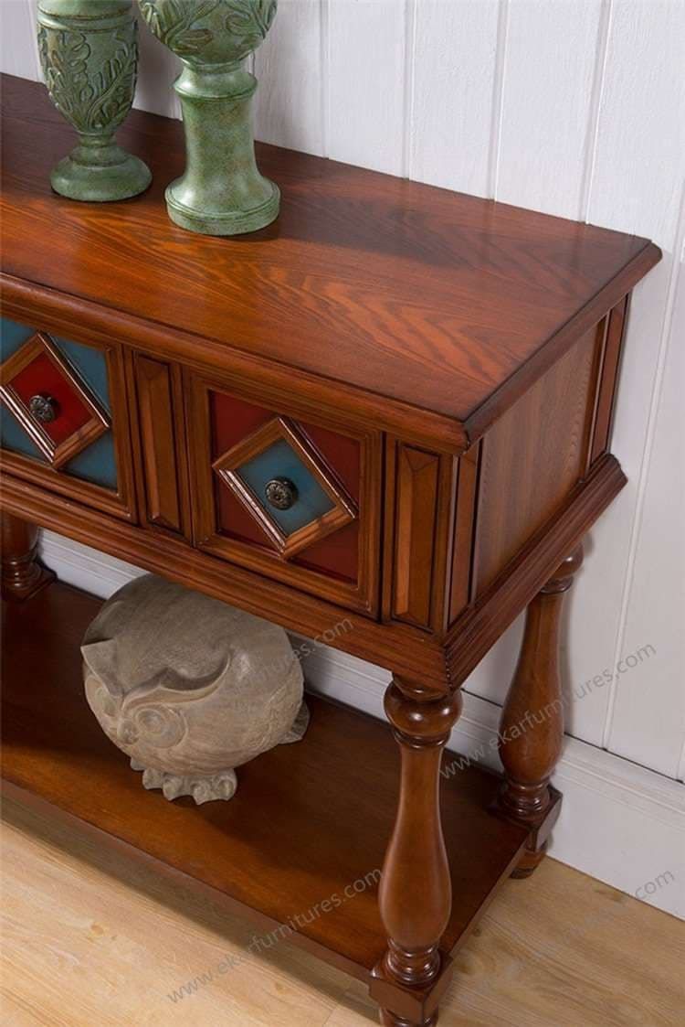Wooden console table with mirror - Antique Wood Console Tables With Mirror