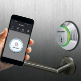 Smart Digital Door Lock opened via Smartphone and Key