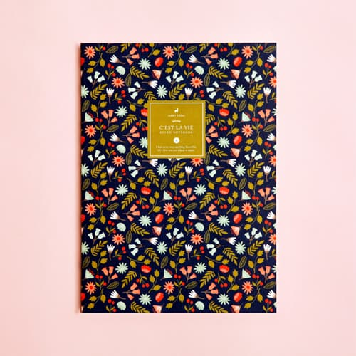 Illustrated Spring Flowers Ruled Notebook