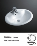 Oval drop in sink
