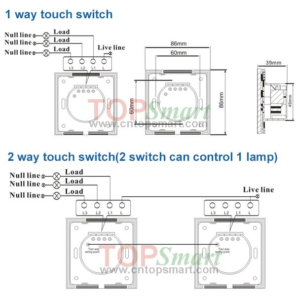 Light switch touch wiring diagram for data wiring diagrams eu uk standard 2 gang mobile app wifi remote control or rf remote rh tradekorea com basic electrical wiring light switch light switch wiring schematic cheapraybanclubmaster Gallery