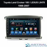 Double Din Car Radio GPS Lexus LX470 Toyota Land Cruiser 100