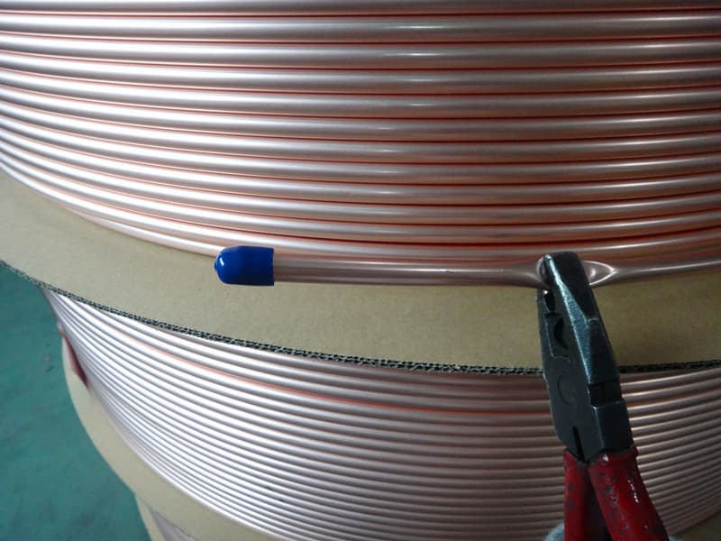 Plain level wound copper tube