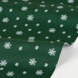 Fabric - Winter tree : snowing