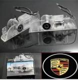 Porsche LED Logo Laser Door Lights No Drill