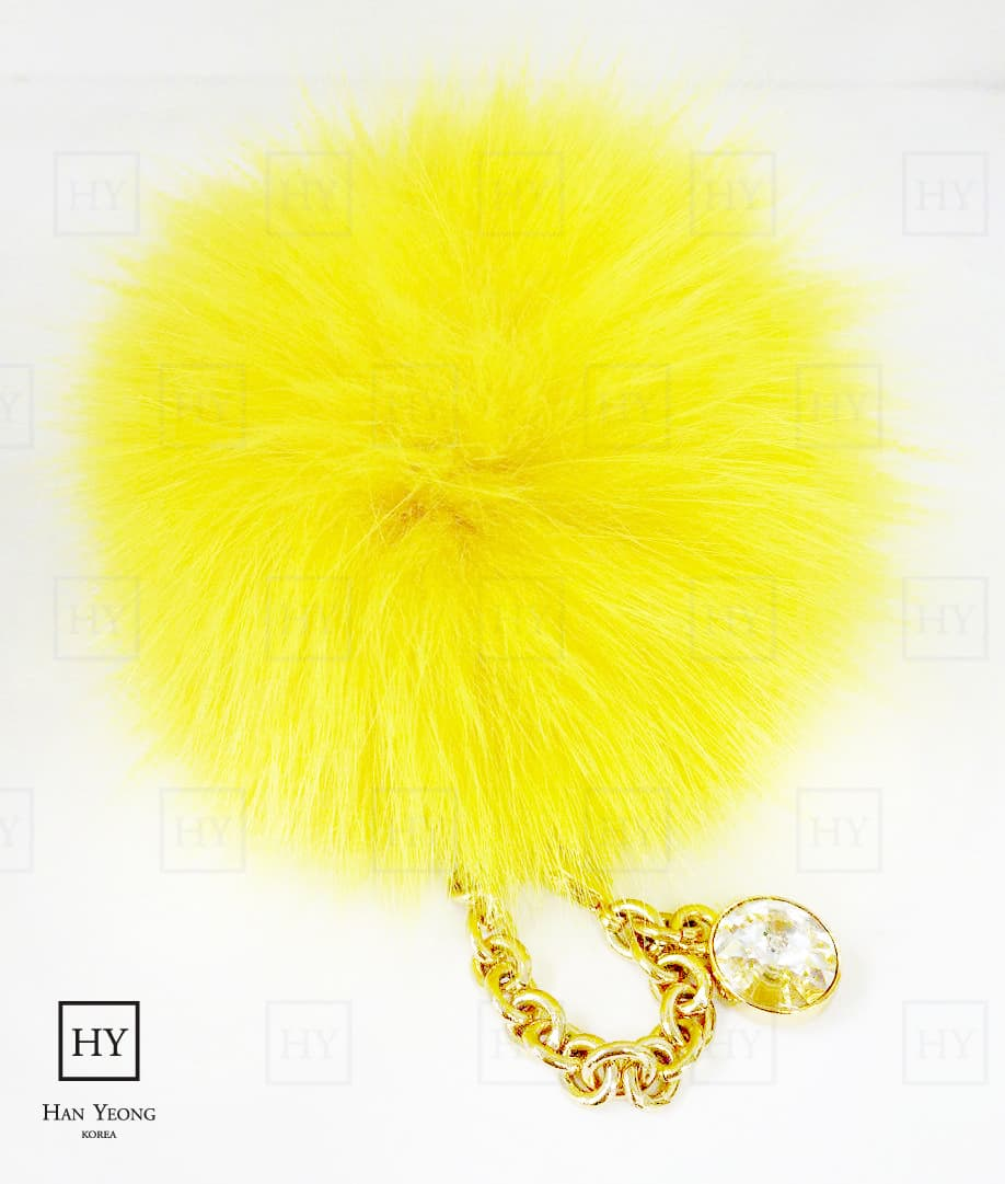 High End Fox Fur Bag Charm