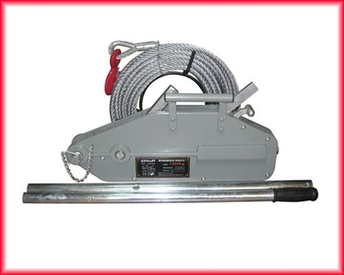 Wire rope pulling hoist manual instruction