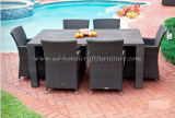 Poly rattan coffee set