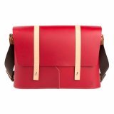 Truhaven Leather Messengerbag _Red_