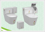 Men's Urinal Rotatable with Integrated Toilet 1