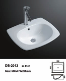 Drop in washbasin