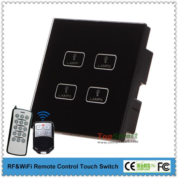 uk standard 4 gang remote control light touch switches