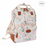 Lovely garden flower print square backpack