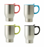 JVR Design Double wall Stainless Steel 13oz Auto Mug