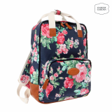 Rose garden print square backpack