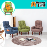 Monster sofa _ recliner fabric 1_seater 4 colors 15steps rec