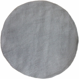 One Tone Warm Grey Round Felt Rug