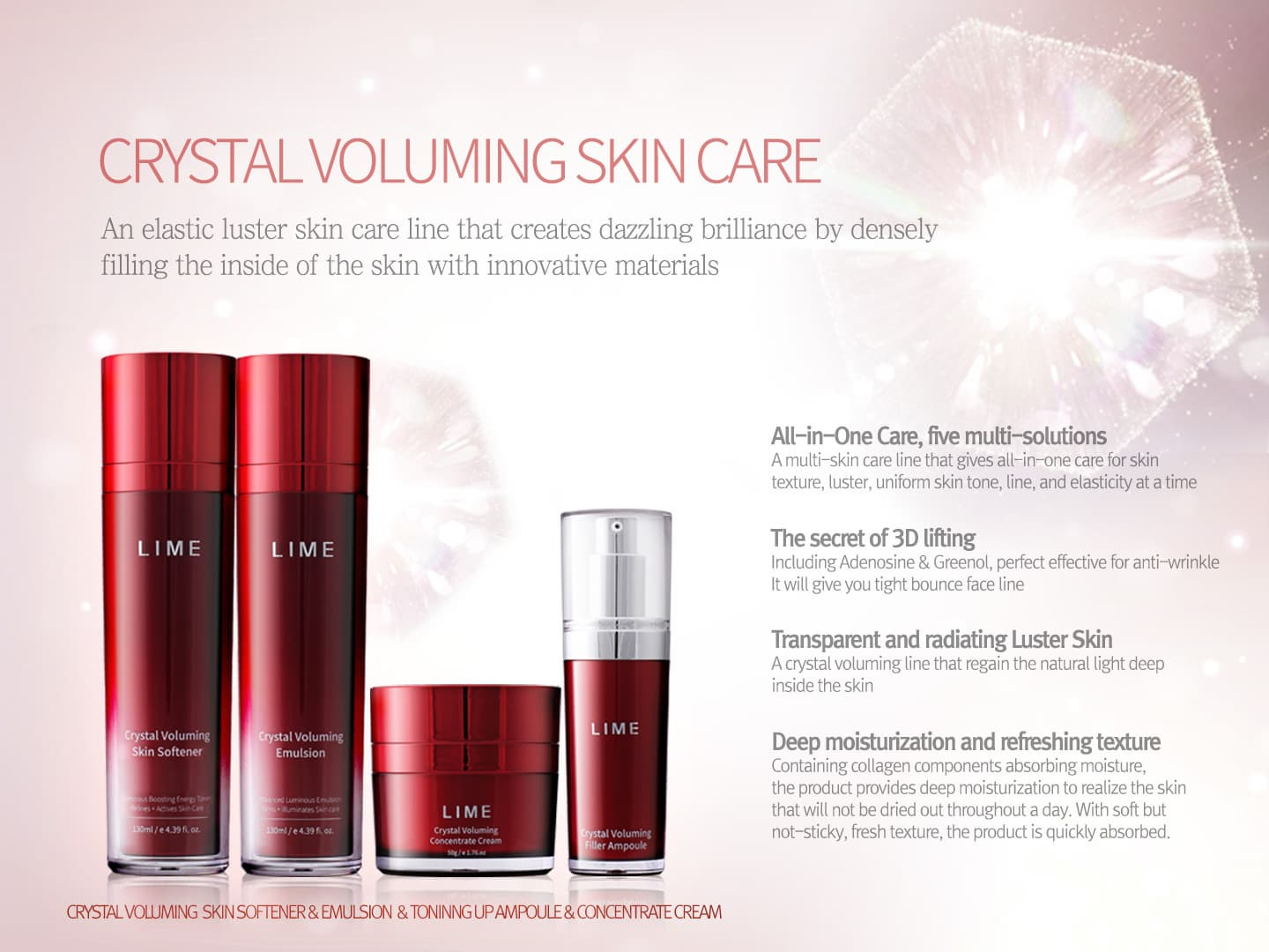 _LIME_ CRYSTAL VOLUMING SKIN CARE SET