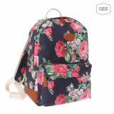-Rose garden print round  backpack
