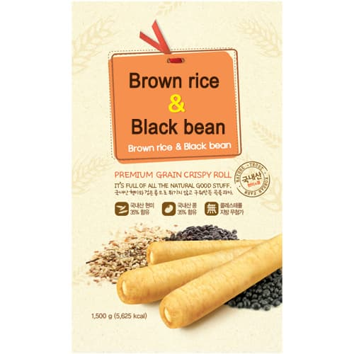 With brown rice with bean