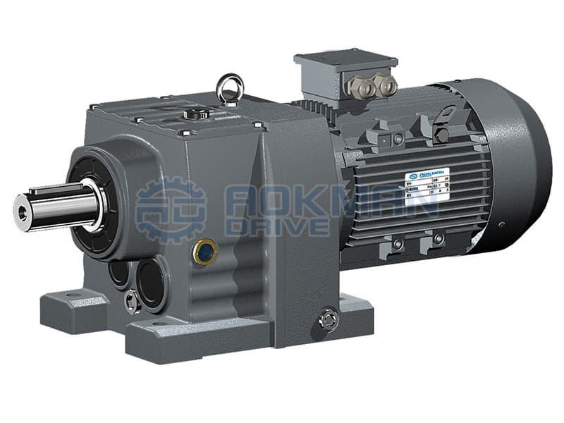 Aokman R Series Inline Coaxial Helical Gearmotors Gearbox