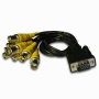 CCTV IP network DVR cable with PVC Jacket