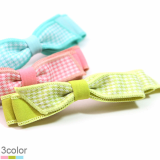 Ribbon Check barrette