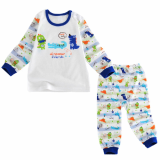 single layer long sleeves pajama set  jurassic