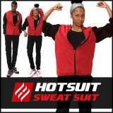 -Hotsuit G2 Red Zipper- Sauna Suits