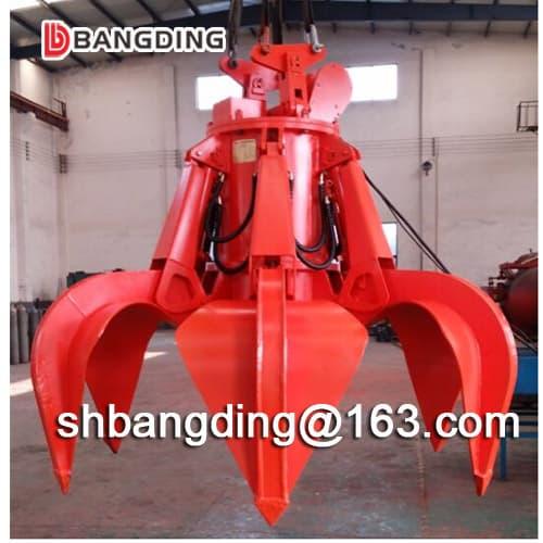Motor-Hydraulic Orange Peel Grab bucket for ship use