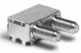 F connector  with shielding case