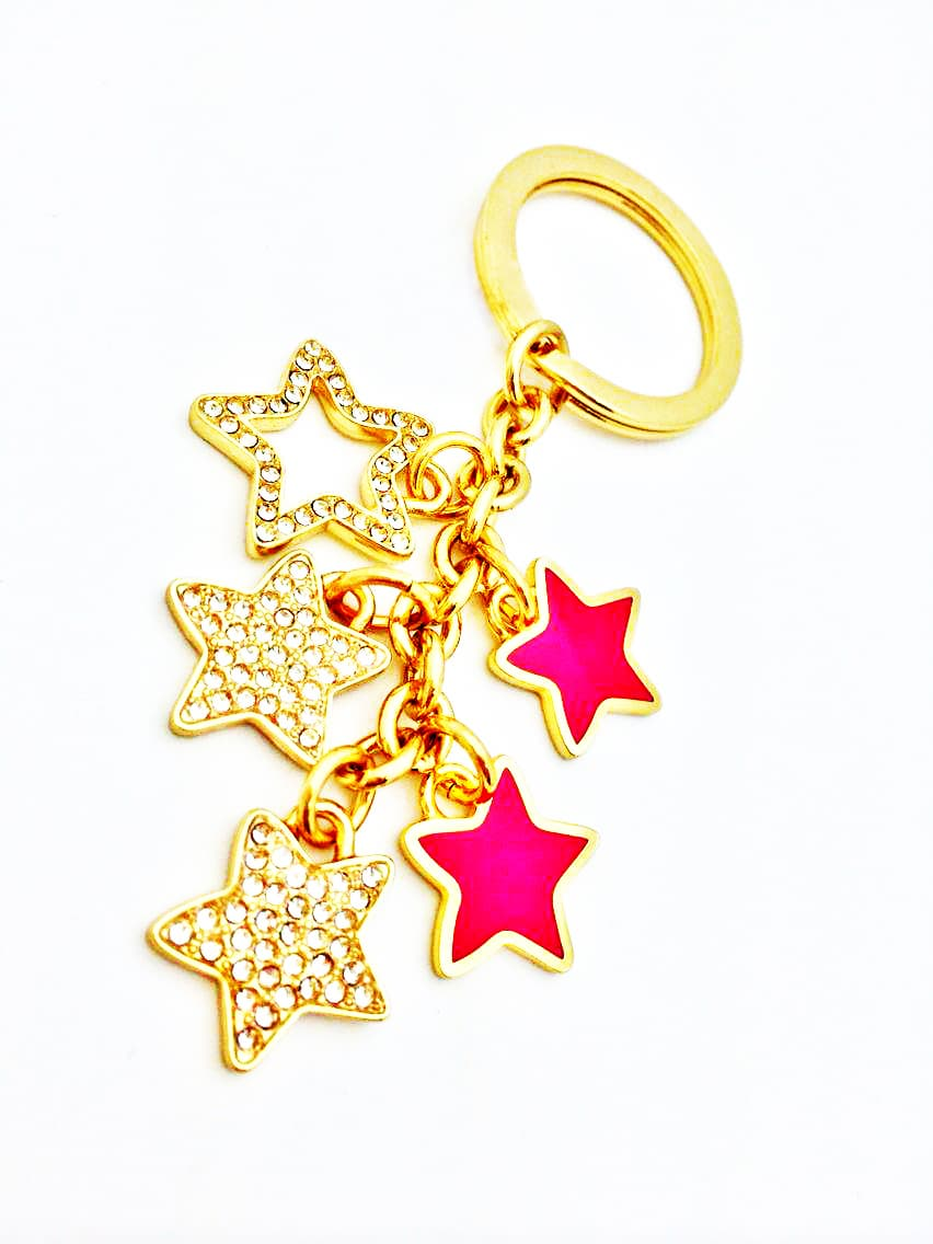 High End Stars Cubic Bag Charm Key Ring