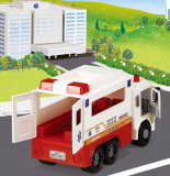MAX AMBULANCE -plastic toy car-